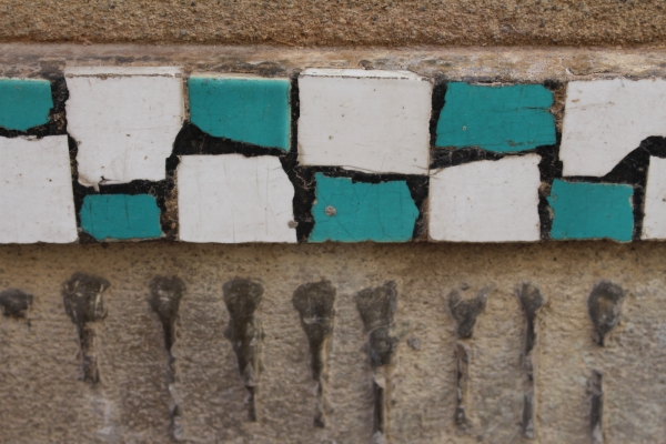 Mosaic ornament on house