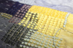 Layered fabric sample