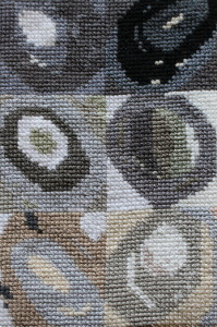 Cross Stitch sample inspired by Chuck Close