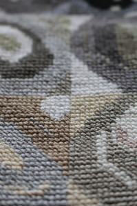 Cross stitch sample - close up