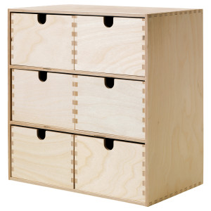 Ikea simple wooden drawers