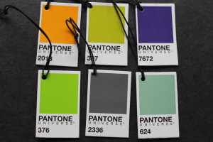 Labels from Pantone mugs