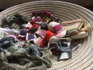 Basket of threads