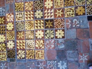 Floor tile Winchester Cathedral